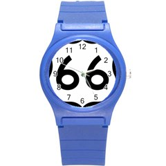 U S  Route 66 Round Plastic Sport Watch (s) by abbeyz71