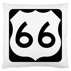 U S  Route 66 Large Cushion Case (one Side) by abbeyz71
