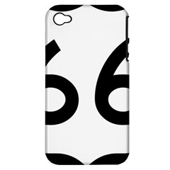 U S  Route 66 Apple Iphone 4/4s Hardshell Case (pc+silicone) by abbeyz71