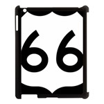 U.S. Route 66 Apple iPad 3/4 Case (Black) Front