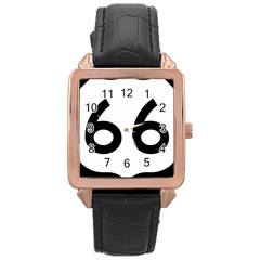 U S  Route 66 Rose Gold Leather Watch  by abbeyz71