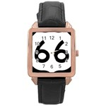 U.S. Route 66 Rose Gold Leather Watch  Front
