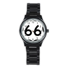 U S  Route 66 Stainless Steel Round Watch