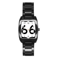 U S  Route 66 Stainless Steel Barrel Watch