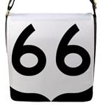 U.S. Route 66 Flap Messenger Bag (S)