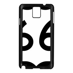 U S  Route 66 Samsung Galaxy Note 3 N9005 Case (black)