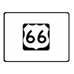 U S  Route 66 Double Sided Fleece Blanket (small)  by abbeyz71