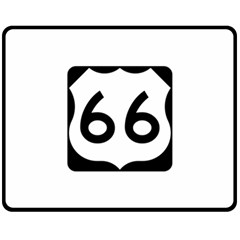 U S  Route 66 Double Sided Fleece Blanket (medium)  by abbeyz71