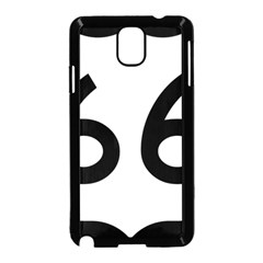 U S  Route 66 Samsung Galaxy Note 3 Neo Hardshell Case (black)