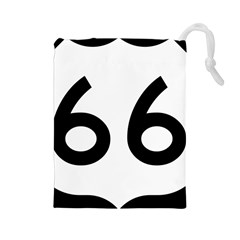 U S  Route 66 Drawstring Pouches (large)  by abbeyz71