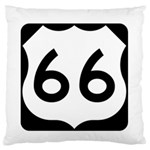 U.S. Route 66 Standard Flano Cushion Case (Two Sides) Back