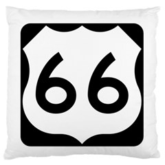 U S  Route 66 Large Flano Cushion Case (two Sides) by abbeyz71