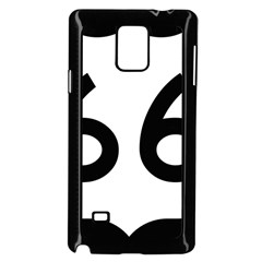 U S  Route 66 Samsung Galaxy Note 4 Case (black) by abbeyz71