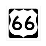 U.S. Route 66 Small Satin Scarf (Square) Front