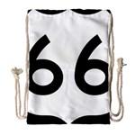U.S. Route 66 Drawstring Bag (Large)