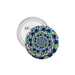 Power Spiral Polygon Blue Green White 1 75  Buttons by EDDArt