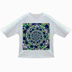 Power Spiral Polygon Blue Green White Infant/toddler T Shirts by EDDArt