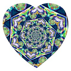 Power Spiral Polygon Blue Green White Jigsaw Puzzle (heart)