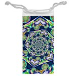 Power Spiral Polygon Blue Green White Jewelry Bags Back