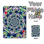 Power Spiral Polygon Blue Green White Playing Cards 54 Designs  Front - Diamond5