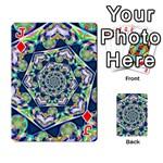Power Spiral Polygon Blue Green White Playing Cards 54 Designs  Front - DiamondJ