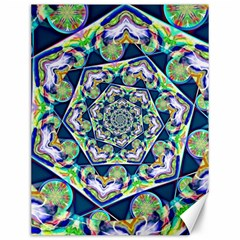 Power Spiral Polygon Blue Green White Canvas 12  X 16