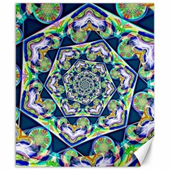 Power Spiral Polygon Blue Green White Canvas 20  X 24