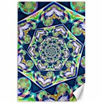 Power Spiral Polygon Blue Green White Canvas 20  x 30   30 x20 Canvas - 1