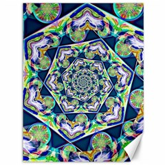 Power Spiral Polygon Blue Green White Canvas 36  X 48