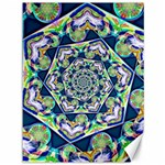 Power Spiral Polygon Blue Green White Canvas 36  x 48   48 x36 Canvas - 1