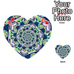 Power Spiral Polygon Blue Green White Playing Cards 54 (Heart)  Front - Heart10
