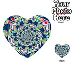 Power Spiral Polygon Blue Green White Playing Cards 54 (Heart)  Front - Diamond9