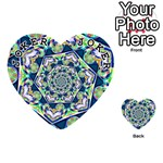 Power Spiral Polygon Blue Green White Playing Cards 54 (Heart)  Front - Joker1