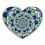 Power Spiral Polygon Blue Green White Heart Mousepads Front