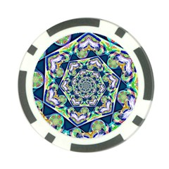 Power Spiral Polygon Blue Green White Poker Chip Card Guards