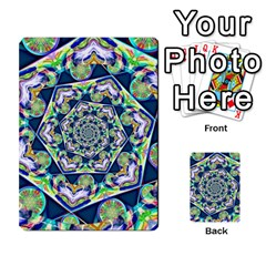 Power Spiral Polygon Blue Green White Multi Purpose Cards (rectangle)