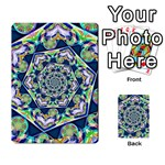 Power Spiral Polygon Blue Green White Multi-purpose Cards (Rectangle)  Frontback
