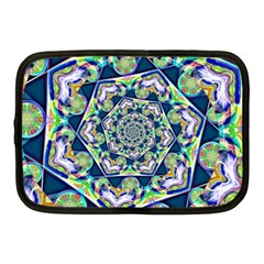 Power Spiral Polygon Blue Green White Netbook Case (medium)  by EDDArt