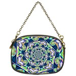 Power Spiral Polygon Blue Green White Chain Purses (One Side)  Front