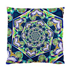 Power Spiral Polygon Blue Green White Standard Cushion Case (one Side)