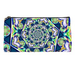 Power Spiral Polygon Blue Green White Pencil Cases by EDDArt