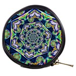 Power Spiral Polygon Blue Green White Mini Makeup Bags Front