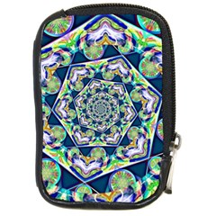 Power Spiral Polygon Blue Green White Compact Camera Cases by EDDArt