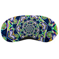 Power Spiral Polygon Blue Green White Sleeping Masks