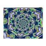 Power Spiral Polygon Blue Green White Cosmetic Bag (XL) Back