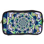 Power Spiral Polygon Blue Green White Toiletries Bags 2-Side Back