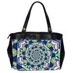 Power Spiral Polygon Blue Green White Office Handbags (2 Sides)  Back