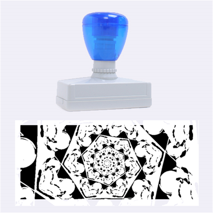 Power Spiral Polygon Blue Green White Rubber Stamps (Large)