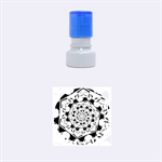 Power Spiral Polygon Blue Green White Rubber Round Stamps (Small) 1.12 x1.12  Stamp