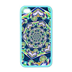 Power Spiral Polygon Blue Green White Apple Iphone 4 Case (color) by EDDArt